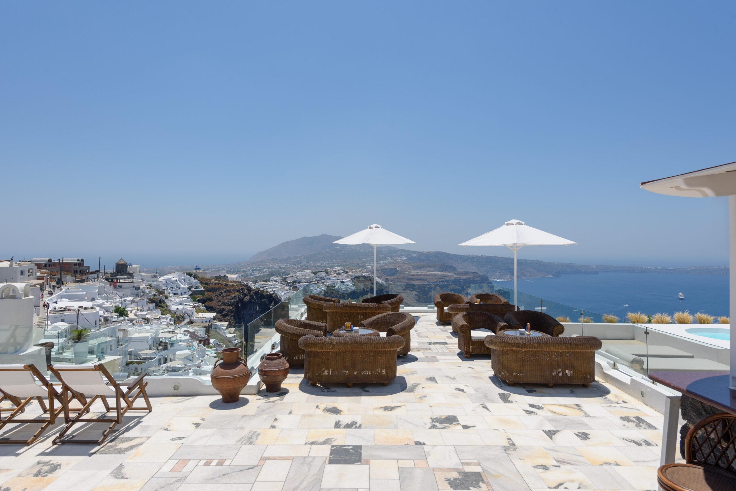 Kallisto Hotel in Imerovigli Village of Santorini island